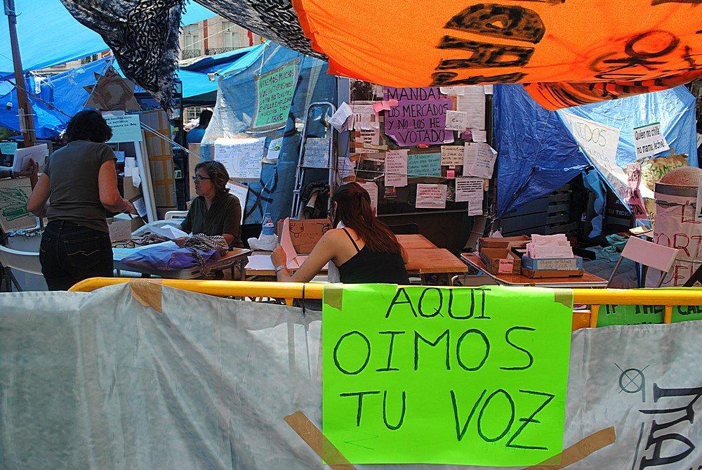 Indignados Puerto del Sol Madrid 8