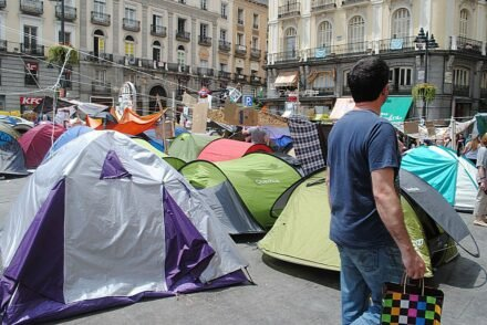 Indignados Puerto del Sol Madrid 7