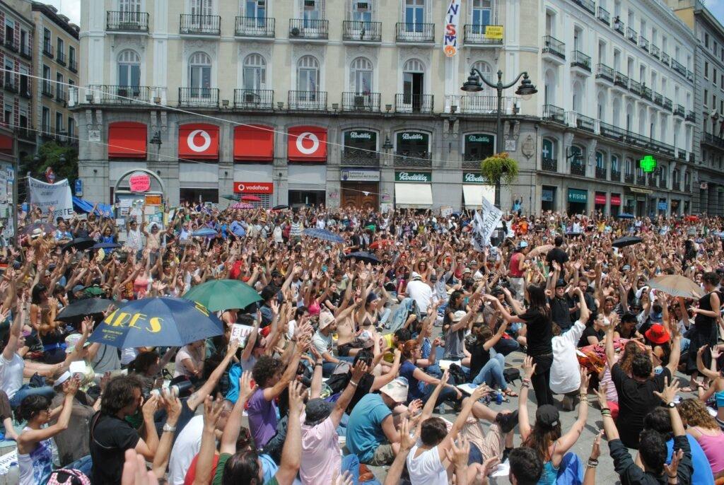 Indignados Puerto del Sol Madrid 5