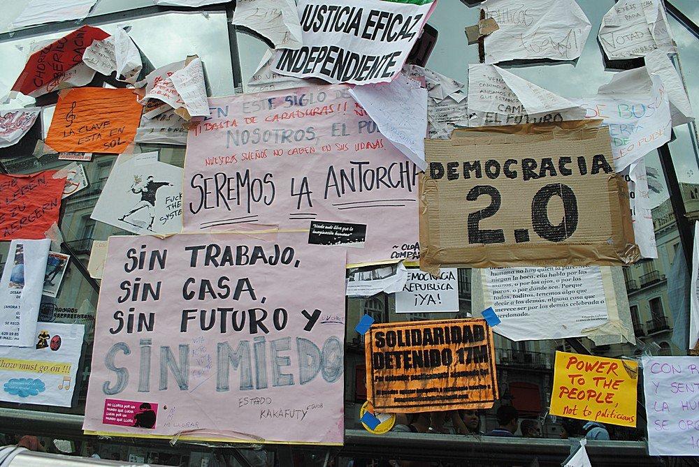 Indignados Puerto del Sol Madrid 4