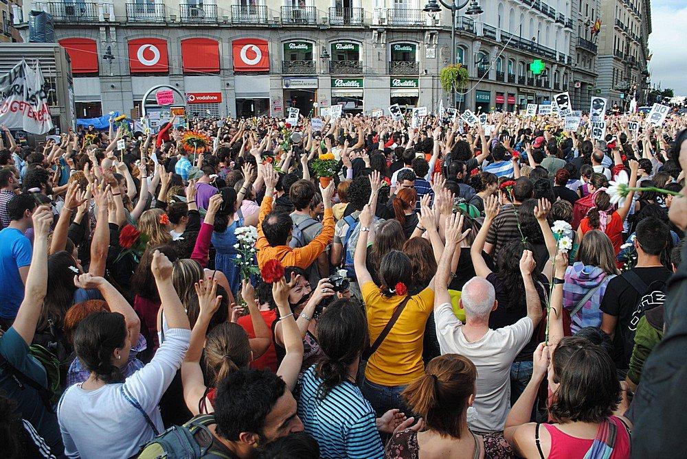 Indignados Puerto del Sol Madrid 2