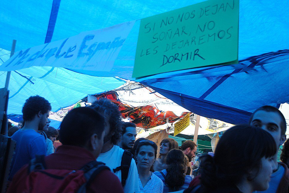 Indignados Puerto del Sol Madrid 9