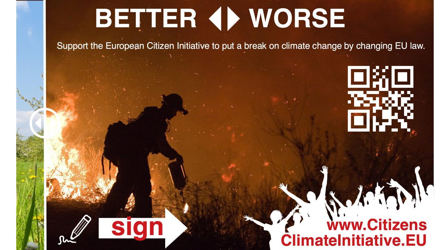 Oproep: teken het Europees burgerinitiatief voor het klimaat