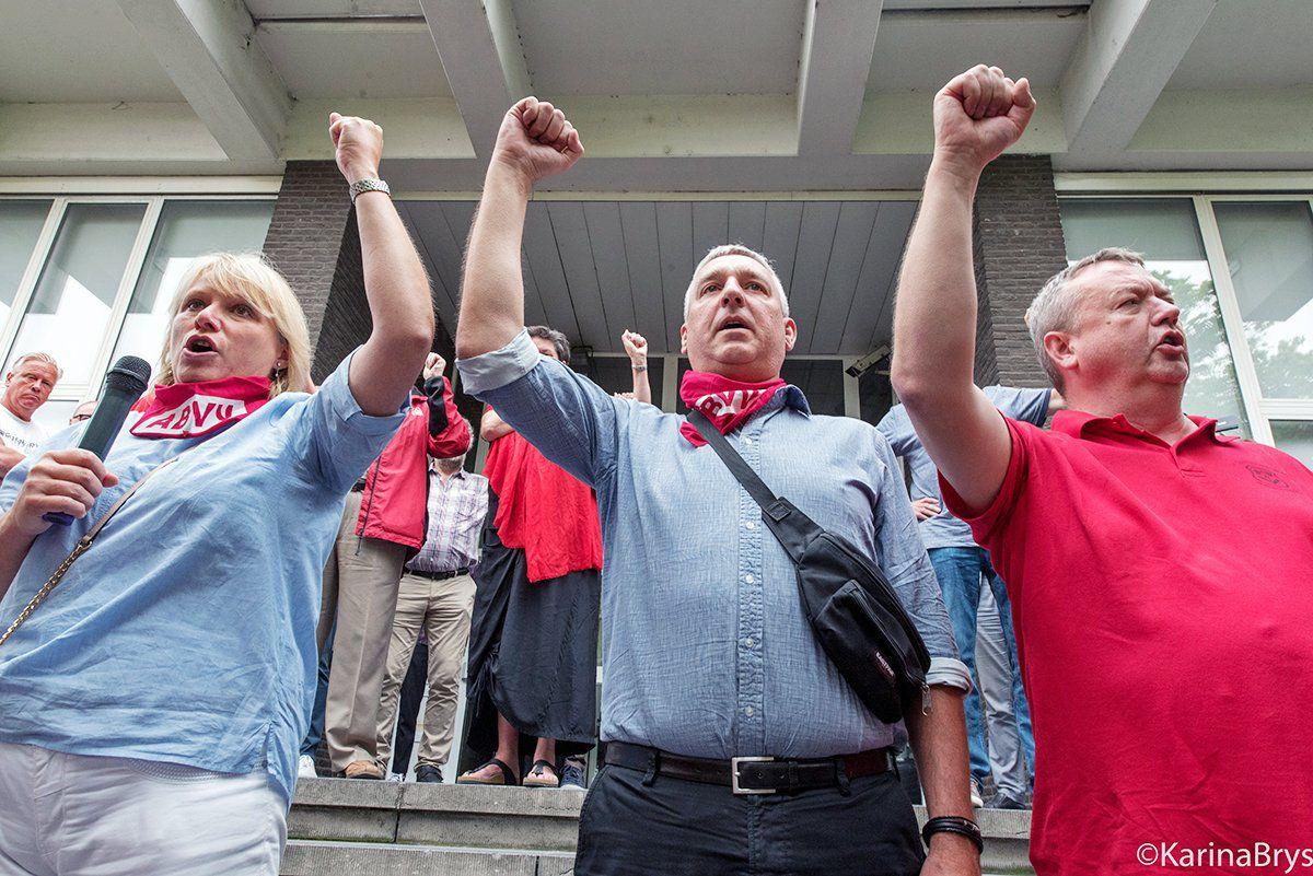 Voorzitter ABVV Antwerpen in beroep veroordeeld voor belemmering verkeer bij staking