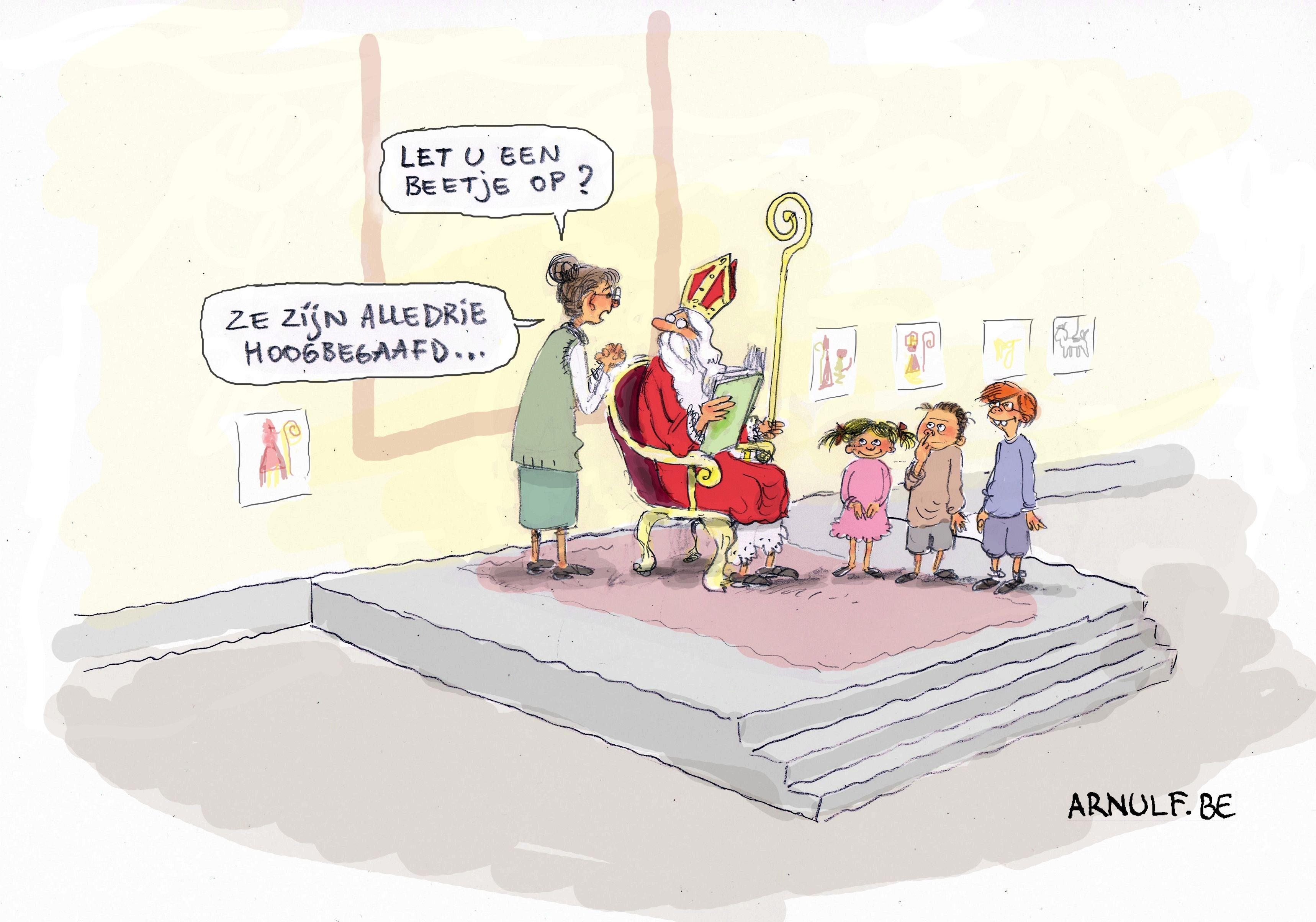 Sint op school