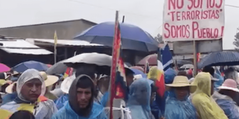 Protesten in Bolivia.