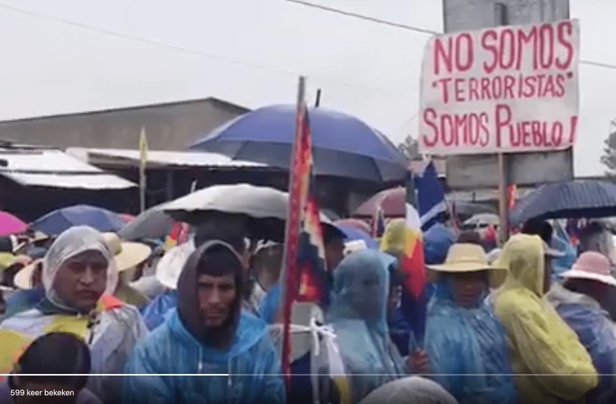 Protesten in Bolivia.