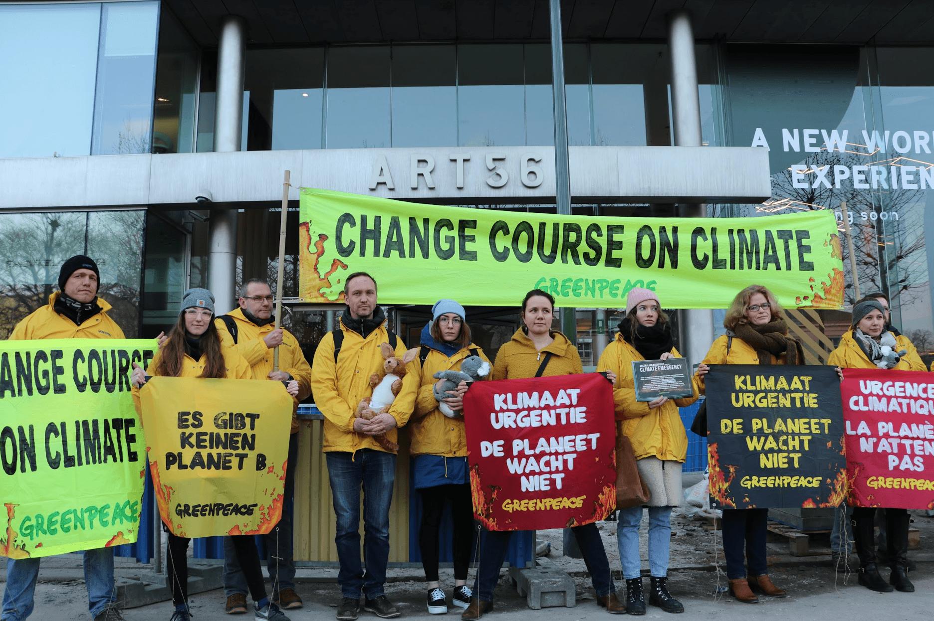 Vreedzaam protest voor de Australische ambassade in Brussel.