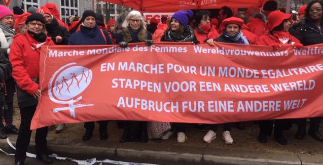 Wereldvrouwenmars op Nationale Manifestatie.