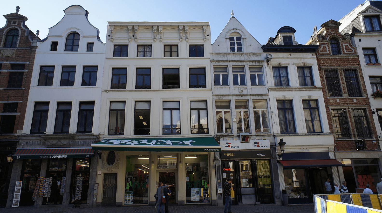 Huizen in Brussel.
