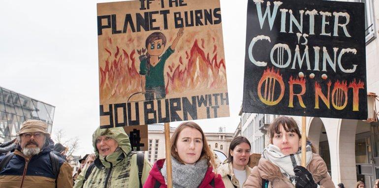 Climate Strike met Greta Thunberg in Brussel op 6 maart 2020.