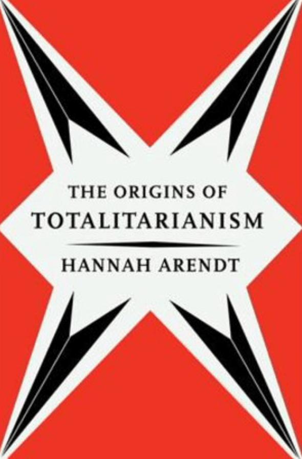 Cover van het boek 'The origins of totalitarianism' van auteur Hannah Arendt
