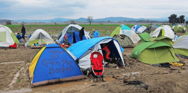 Vluchtelingenkamp in Griekenland.