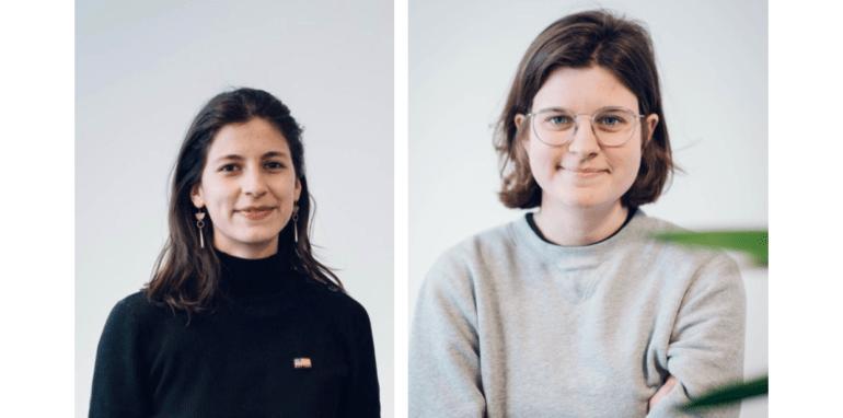 Julia Alegre en Maïté de Haan, oprichters van filosofenplatform Troebel