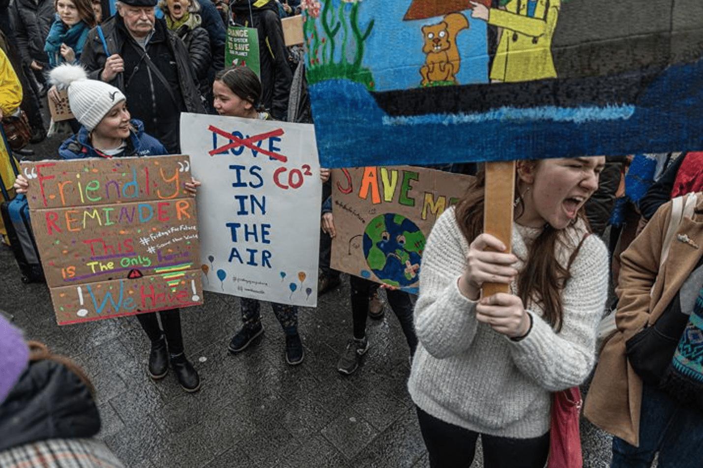 Climate Strike in Brussel op 6 maart met Greta Thunberg.