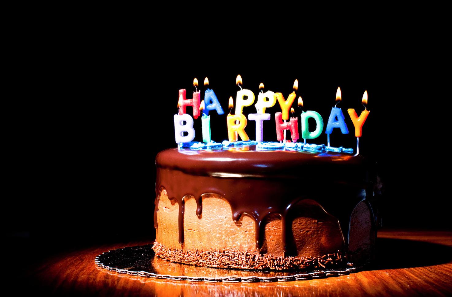 Verjaardagstaart.
