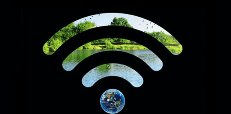 WiFi-logo voor Earth Hour 2020.