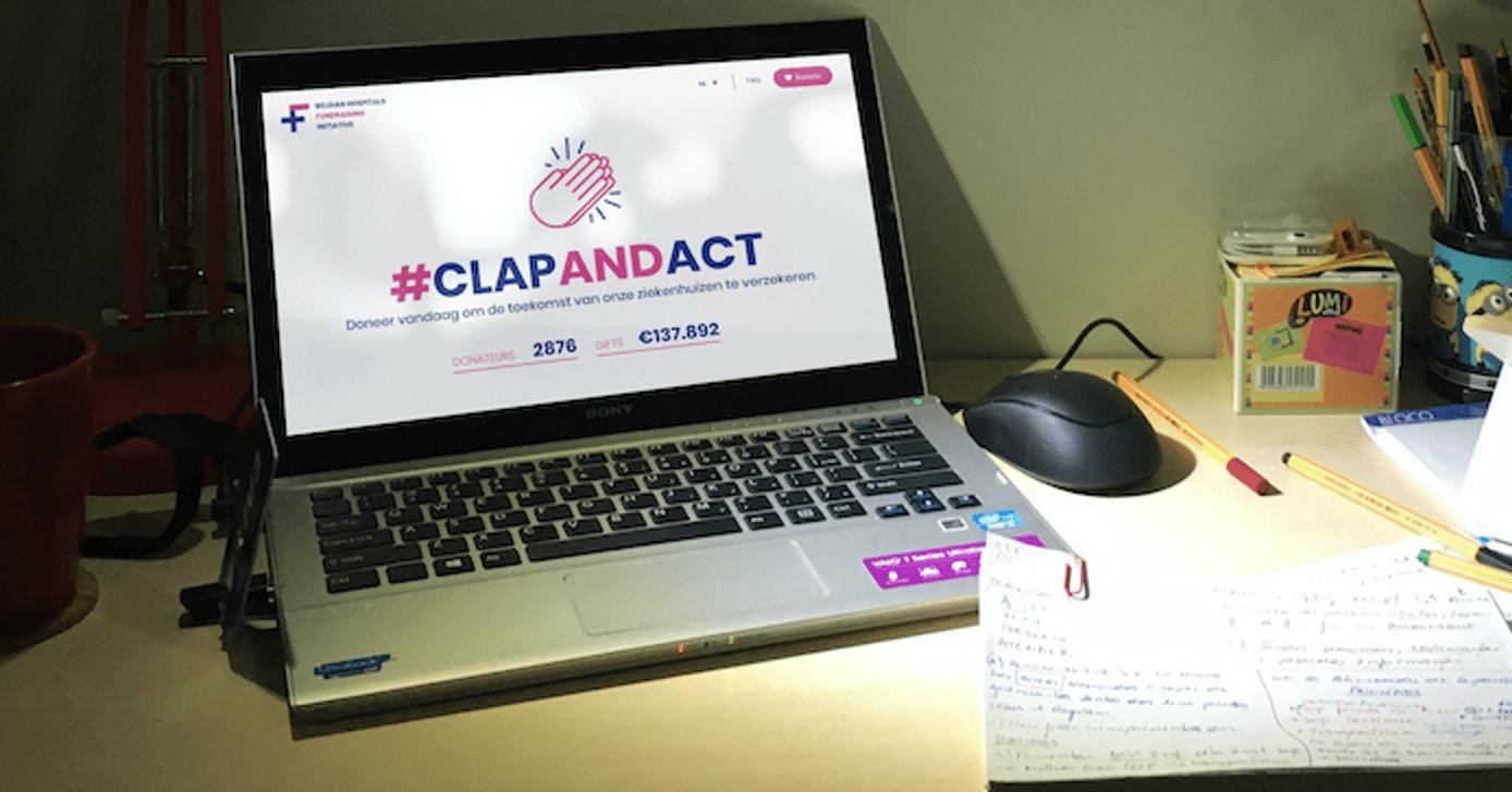 Homepage van de actie #ClapAndAct.