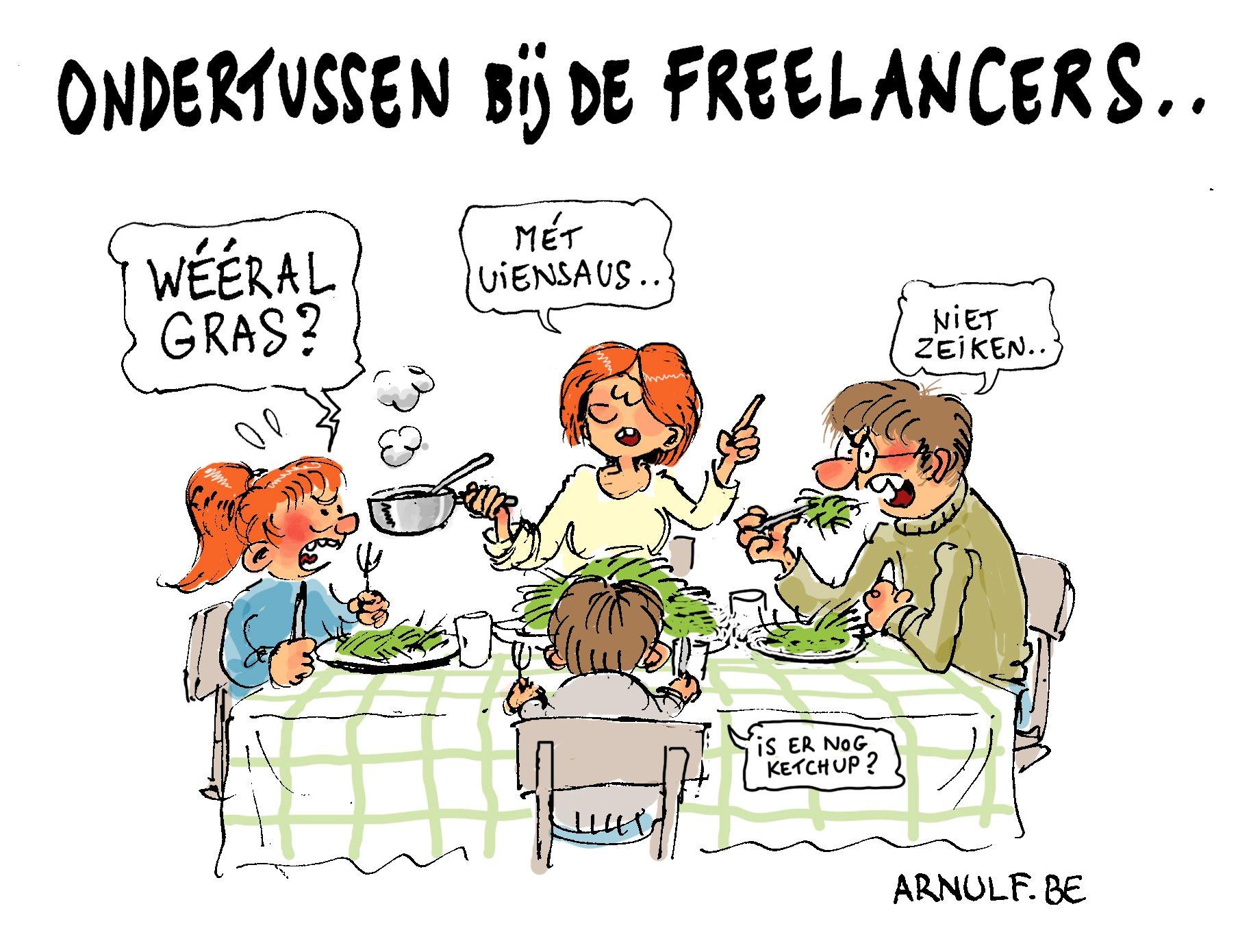 Bij de freelancers …