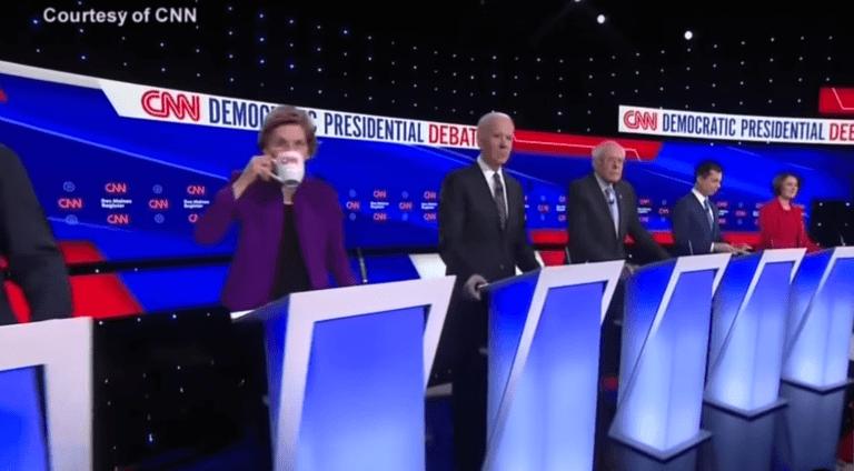 VS verkiezingsdebat voor de Democratische presidentskandidaat 2020.