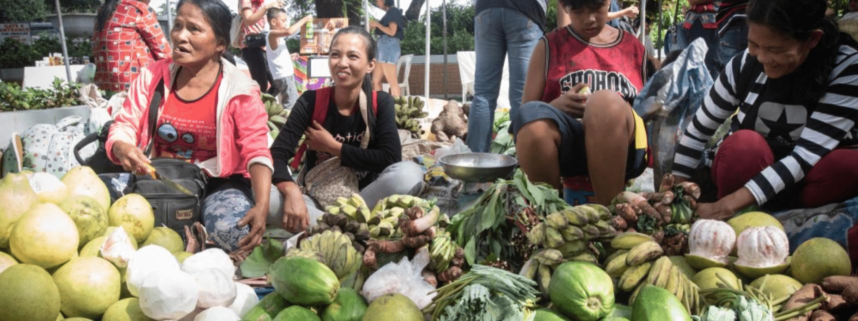 Markt op de Filipijnen.