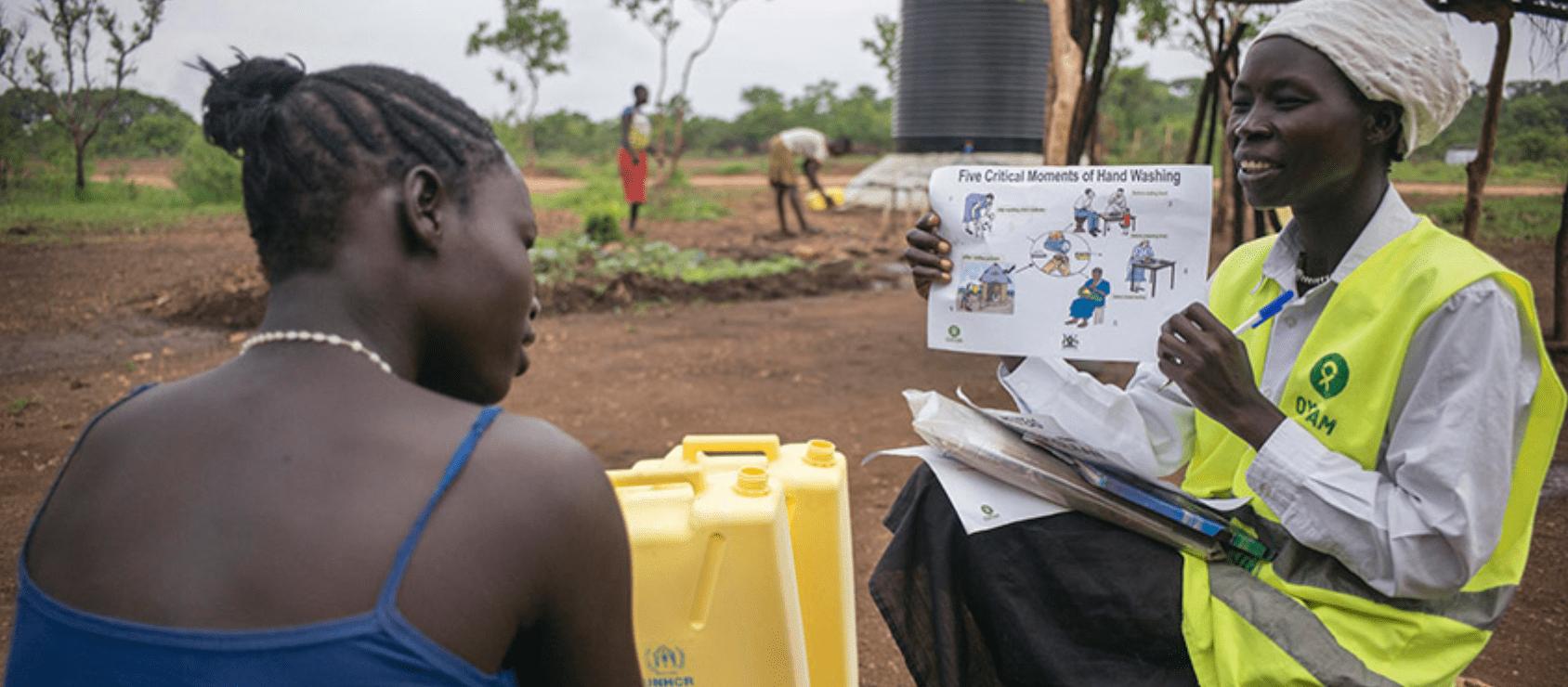 Preventie van coronavirus in Afrika.