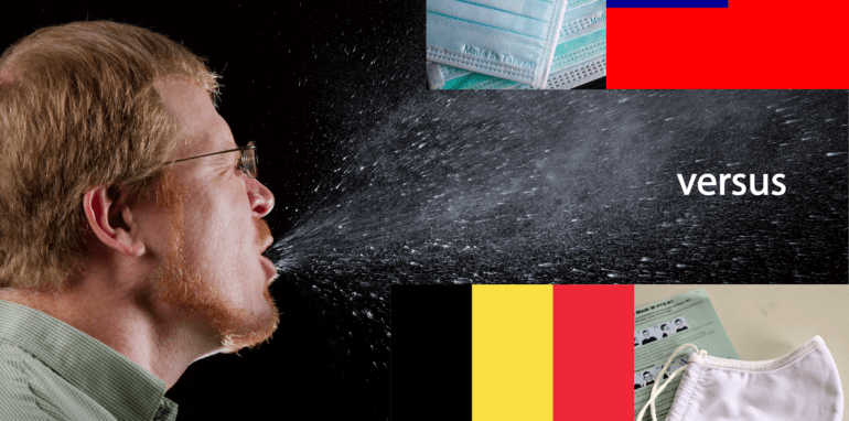 Haak je eigen mondmasker en daarmee is de (net)kous af: analyse België vs. Taiwan — Wie roept de overheid tot verantwoording op? CivicTechHub.org