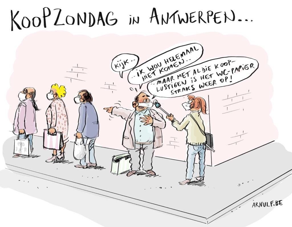 Cartoon Koopzondag Dewereldmorgen Bedewereldmorgen Be