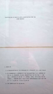 Investigation of Kosuth's fifth investigation part one, detail, archief New Reform.
