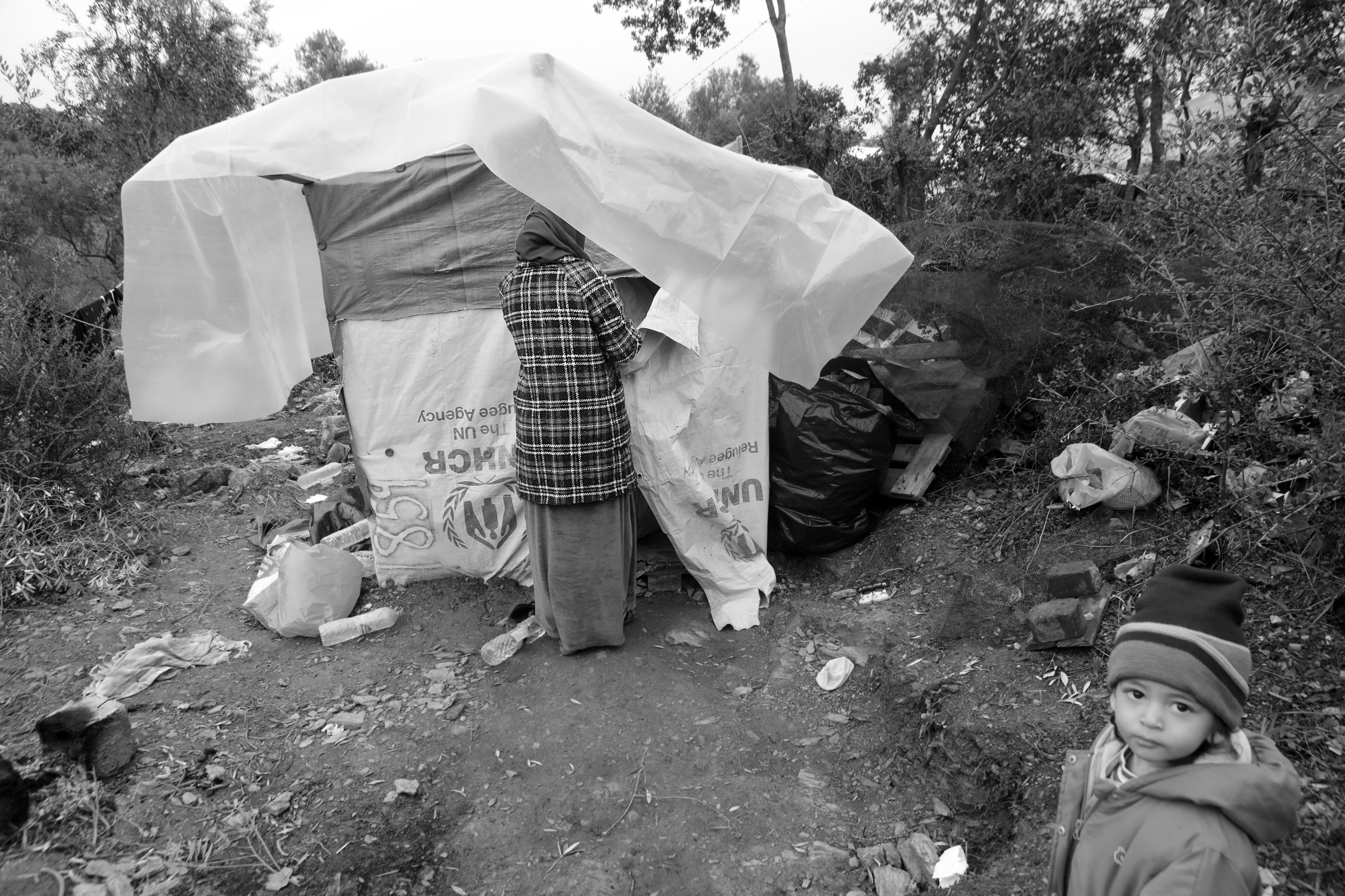 D. Salih (27) is met zijn zwangere vrouw Rahaef (22) en twee kindjes naar Europa gevlucht.
