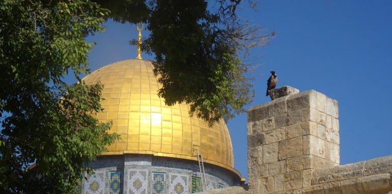 Rotskoepel op de Haram al-Sjarief, Al Quds/Jeruzalem.
