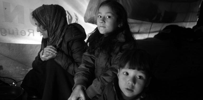 G. F. woont sinds 3 maanden in Moria met haar vier kindjes.