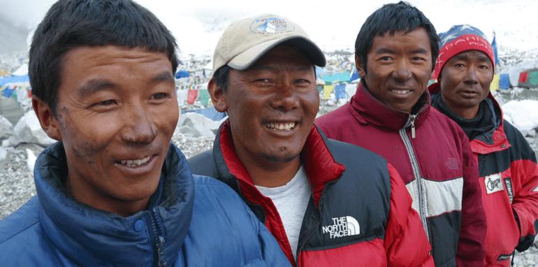 Sherpa's in de Himalaya.
