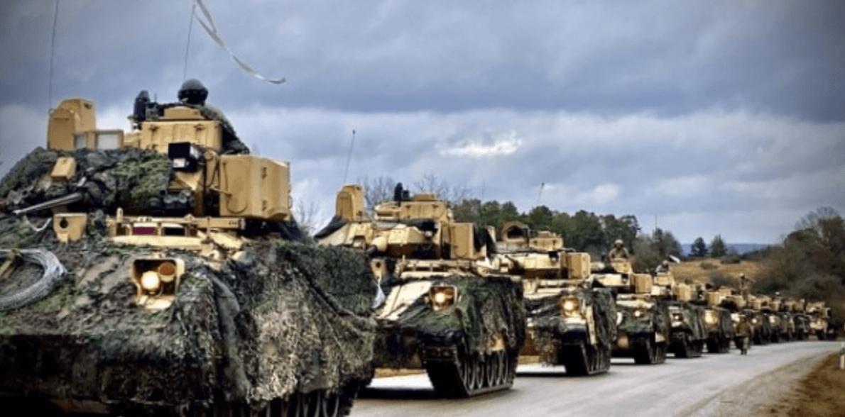 War games in Oost-Europa.