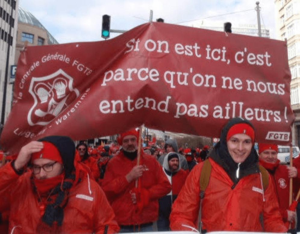 Nationale Manifestatie ABVV voor sociale zekerheid.